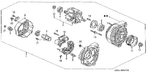 Honda online store : 2000 s2000 alternator (denso) parts