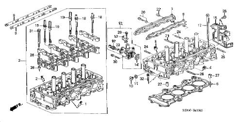 Honda online store : 2001 s2000 cylinder head parts