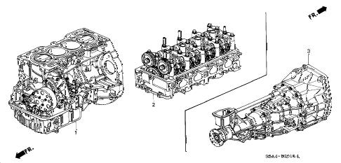 Honda online store : 2006 s2000 engine assy