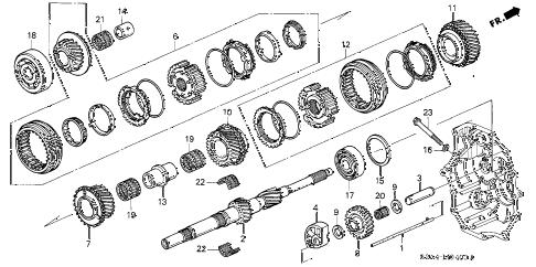Honda online store : 2001 s2000 mt mainshaft (1) parts
