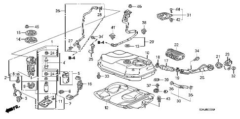 Honda online store : 2008 s2000 fuel tank parts