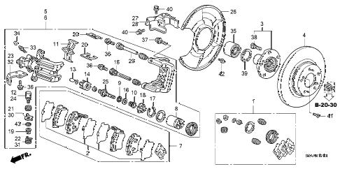 Honda online store : 2008 s2000 rear brake parts