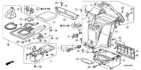 Honda online store : 2008 s2000 console parts
