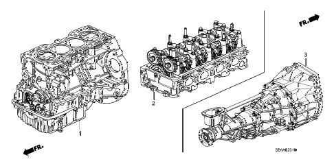 Honda online store : 2009 s2000 engine assy