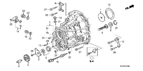 Honda online store : 2008 s2000 mt transmission case parts