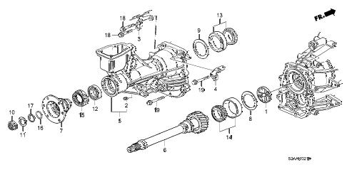Honda online store : 2008 s2000 mt secondary shaft parts