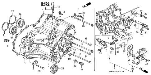 Honda Civic Manual Transmission Diagram : 92 accord ex