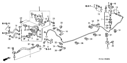 Honda online store : 2004 civic fuel pipe (3) parts