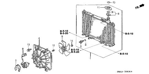 Honda online store : 2004 civic radiator (denso) parts