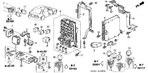 Honda online store : 2004 civic control unit (cabin) parts