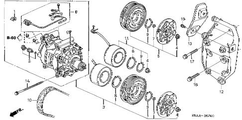 Honda online store : 2004 civic a/c compressor parts