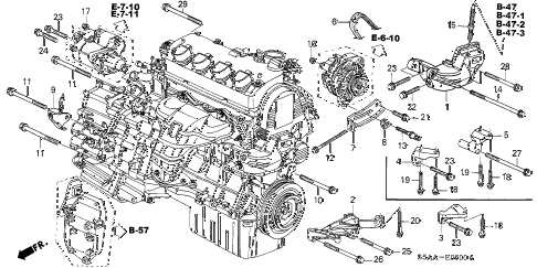 Honda Civic Hybrid 2004 Engine Mounts Diagram, Honda, Free