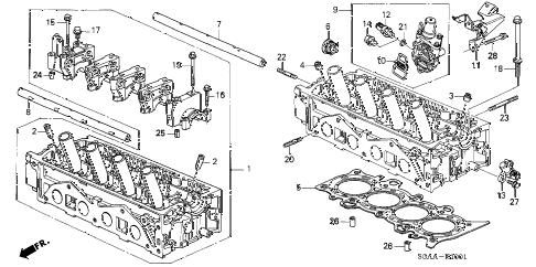 Honda online store : 2004 civic cylinder head (vtec) parts