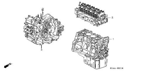 Honda online store : 2004 civic engine assy