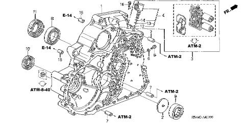 Honda online store : 2005 civic at torque converter case parts