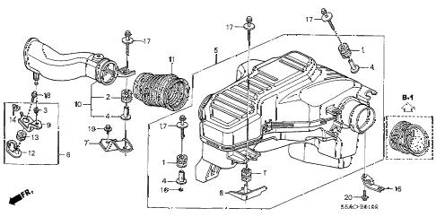 Honda online store : 2005 civic resonator chamber parts