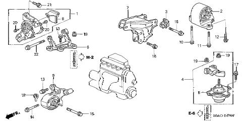 Honda online store : 2005 civic engine mounts (mt) parts