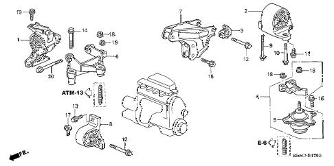 Honda online store : 2005 civic engine mounts (cvt) parts