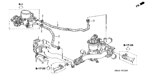 Honda online store : 2005 civic water hose (1) parts