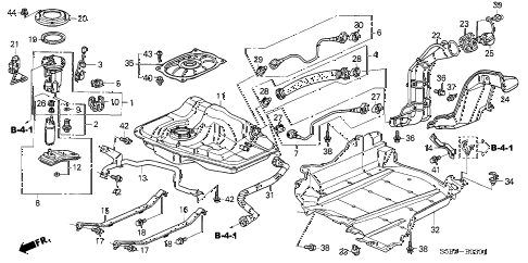 Honda online store : 2003 civic fuel tank (2) parts