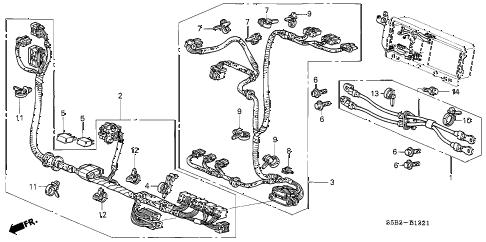 Honda online store : 2003 civic ima wire harness parts