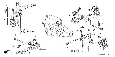 Honda online store : 2004 civic engine mount (mt) parts
