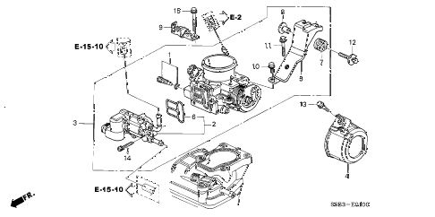 Honda online store : 2005 civic throttle body parts