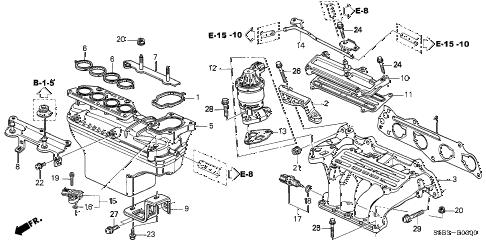 Honda online store : 2005 civic intake manifold parts