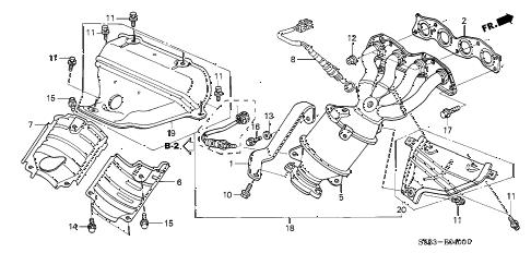 Honda online store : 2003 civic exhaust manifold (1) parts