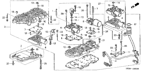 Honda online store : 2003 civic at valve body parts