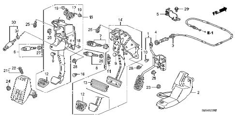 Honda online store : 2003 civic pedal parts