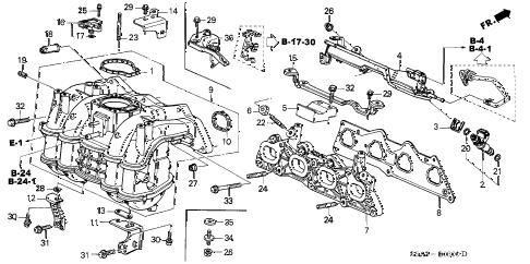 Honda online store : 2001 civic intake manifold parts