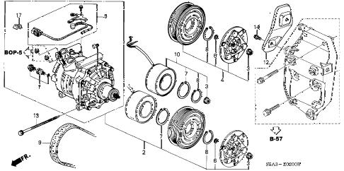 Honda online store : 2001 civic a/c compressor (sanden) parts