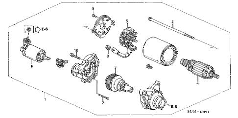 Honda online store : 2004 civic starter motor (mitsuba) parts