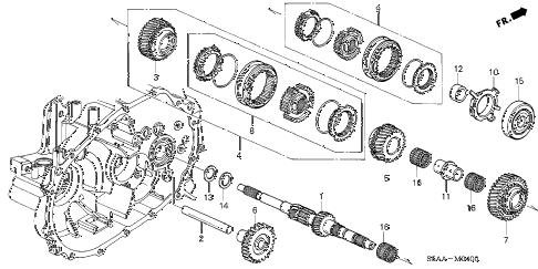 Honda online store : 2001 civic mt mainshaft parts