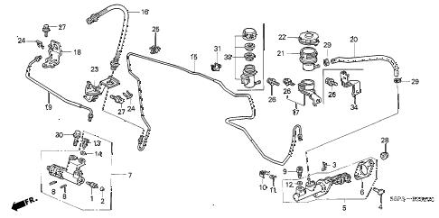 Honda online store : 2001 civic clutch master cylinder (1
