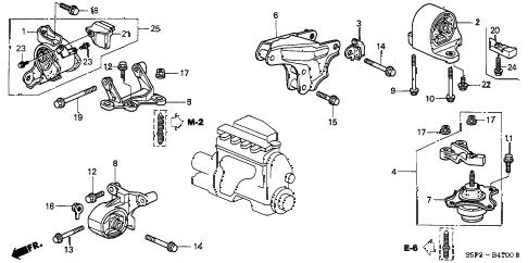 Honda online store : 2001 civic engine mounts (mt) parts