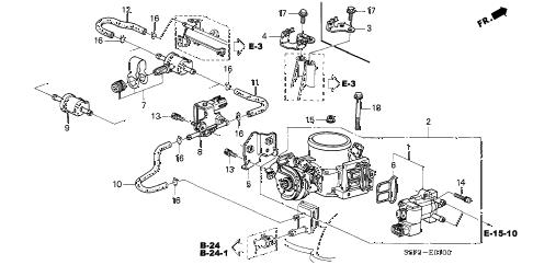 Honda online store : 2003 civic throttle body parts