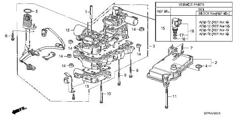 Honda online store : 2004 civic cvt valve body (cvt) parts