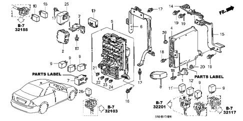 Honda online store : 2002 civic control unit (cabin) parts