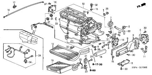 Honda online store : 2003 civic heater unit parts