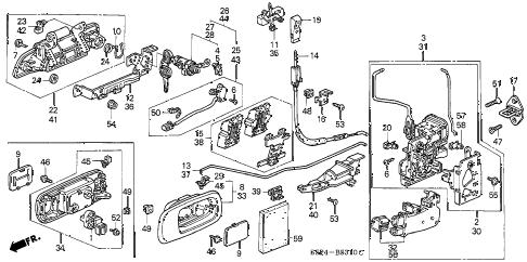 Honda online store : 2004 civic door locks parts