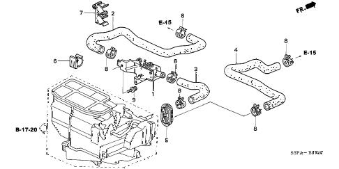 Honda online store : 2005 civic water valve parts