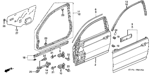Honda online store : 2005 civic door panels parts