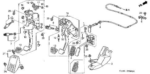 Honda online store : 2002 civic pedal parts