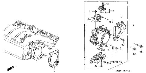 Honda online store : 2002 civic throttle body parts