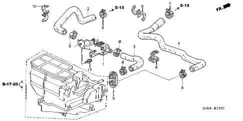 Honda online store : 2003 civic water valve parts