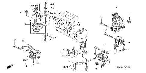 Honda online store : 2002 civic engine mounts parts
