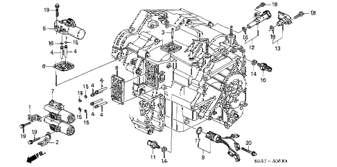 Honda online store : 2003 crv at solenoid parts