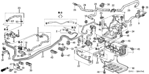 Honda online store : 2003 crv fuel pipe (1) parts